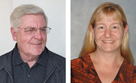 Max Chernesky, PhD, Professor Emeritus, McMaster University/St. Joseph's Healthcare Hamilton, Ontario, Canada (left) and Robyn Thon, MS in Microbiology and MT(ASCP), Clinical Core Laboratory Supervisor Columbia St. Mary's, Milwaukee (right).