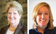 Beverly B. Rogers, MD (left) and Nicole Fisher MT (ASCP), MHA (right)