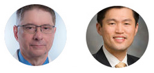 Phil Cagle, MD (left) and Min P. Kim, MD