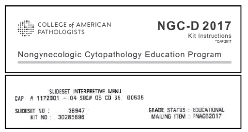 Fig 1. Sample labels indicating the educational nature of kits.