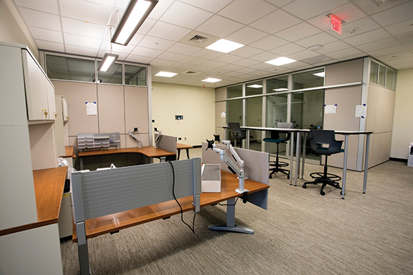 A collaborative area for faculty.
