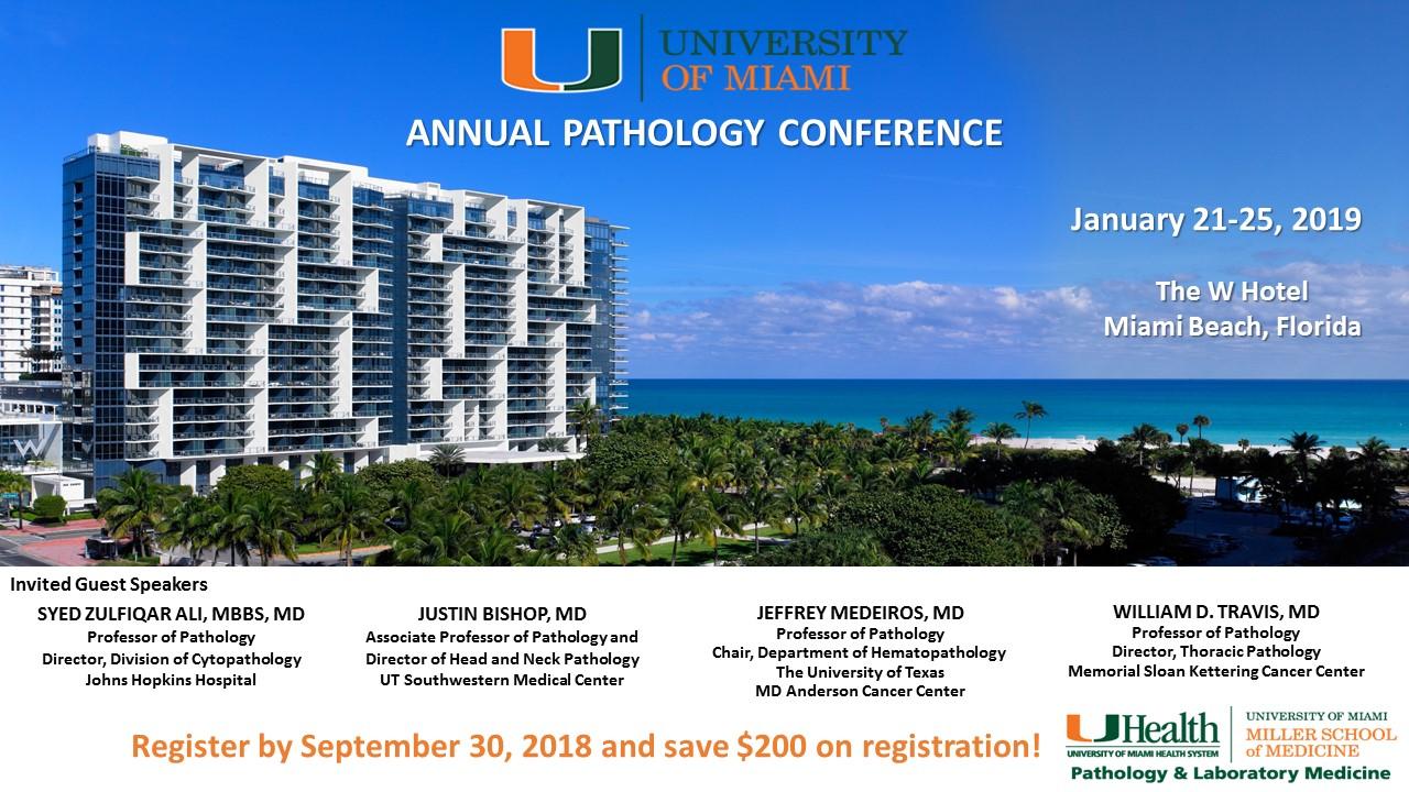 University of Miami Pathology Annual Conference