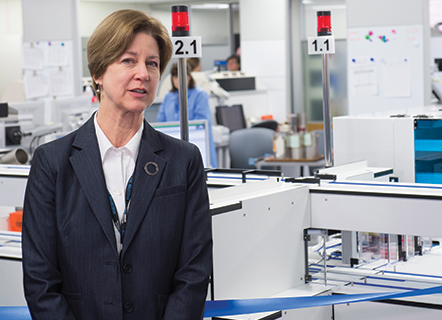 NorthShore University HealthSystem pathology chair Karen Kaul, MD, PhD, and others championed the investment in total laboratory automation. NorthShore expects to achieve its ROI principally through a reduction in FTE staff.