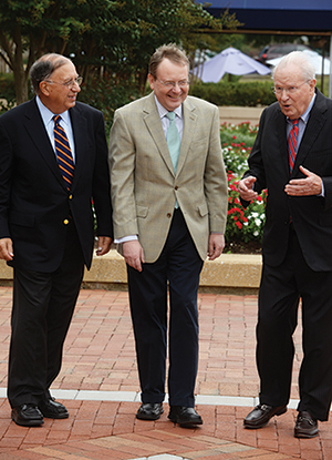 Dr. Sandler, left, with Dr. Flegel, center, and Dr. Queenan. Dr. Sandler was chair of the AABB/CAP interorganizational workgroup. Dr. Flegel was among the original investigators who established the molecular basis for the RHD gene. Dr. Queenan is an obstetrician-gynecologist who has focused on Rh hemolytic disease of the fetus/newborn.