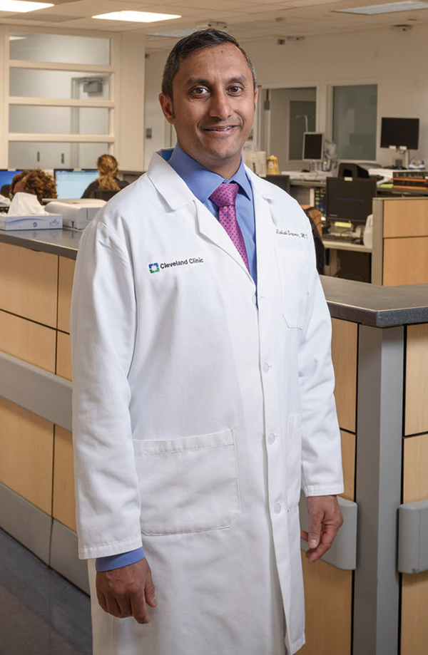 Dr. Rakesh Engineer at the Cleveland Clinic. Early adoption of the next-generation troponin had a downside: He and colleagues could not turn to data from other U.S. institutions to guide them. But creating something fresh allowed them to be responsive to the needs of their colleagues—a bottom-up approach.